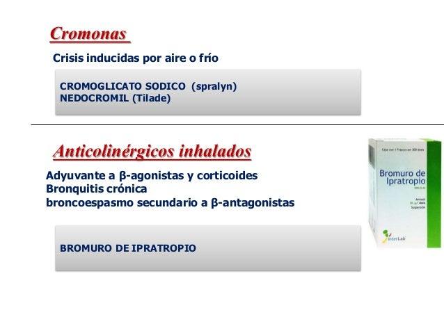 De acción rápida y duración de 4 a 6 horas Asma aguda Broncoespasmo inducido por ejercicio Agonistas B Agonistas B Salbuta...