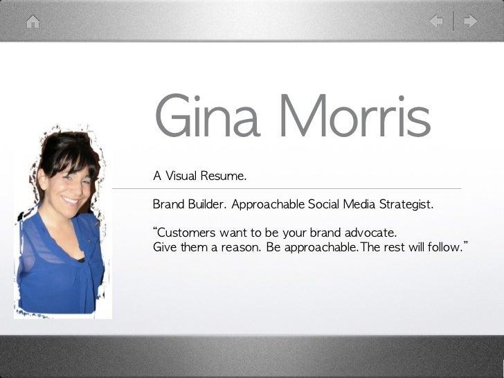 Gina Morris Visual Resume