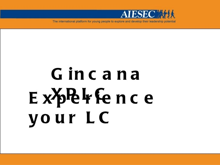 Experience your LC Gincana XPLC