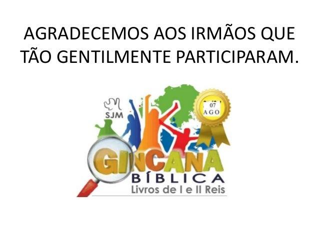 Gincana Bíblica de 2016
