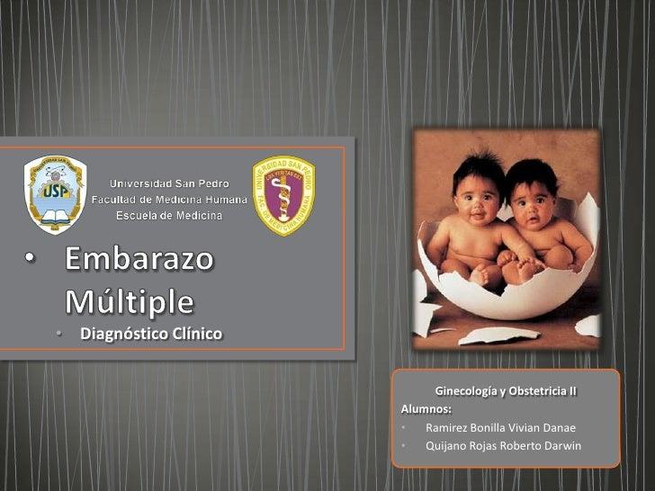 • Diagnóstico Clínico                             Ginecología y Obstetricia II                        Alumnos:            ...