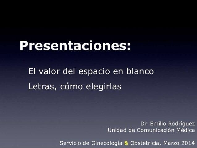 ginecolog a presentaciones en medicina el espacio en blanco