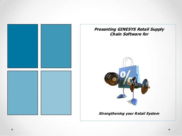 Presenting GINESYS Retail Supply Chain Software for  Strengthening your Retail System