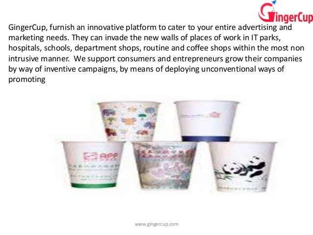 GingerCup: Paper Cup Advertising company in Bagalore