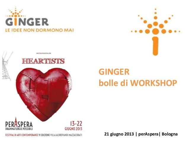 GINGERbolle di WORKSHOP21 giugno 2013 | perAspera| Bologna