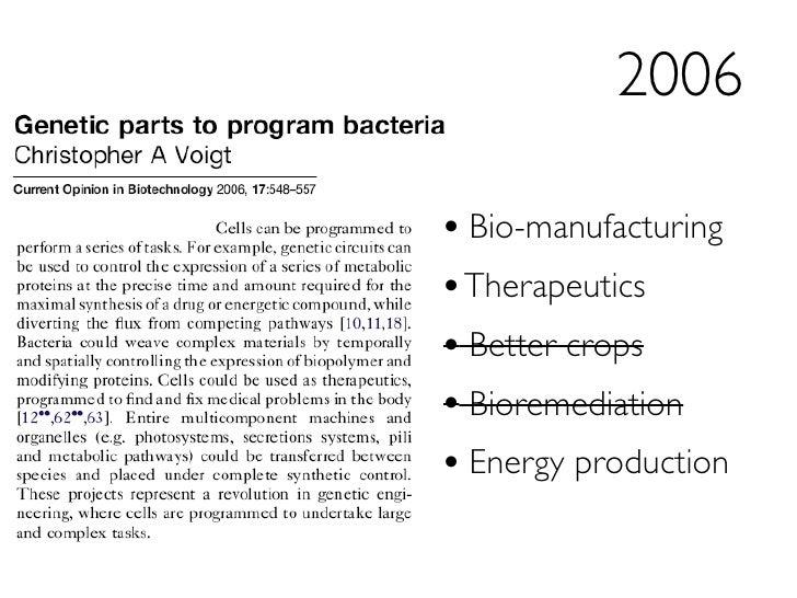 Making biology easier to engineer - September 18, 2008 Slide 3