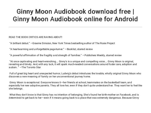 Ginny Moon Audiobook Download Free Ginny Moon Audiobook Online For
