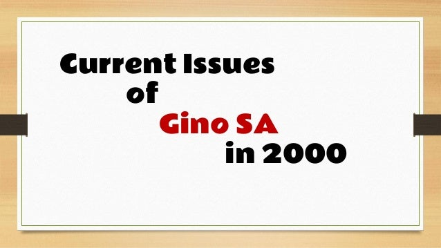 gino case analysis Description 1 gino sa distribution channel management (hbr case study analysis) 2 introduction current issues knowing.