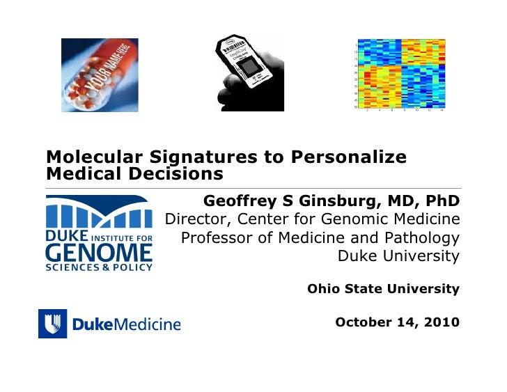 Transforming Medicine Through Genomics