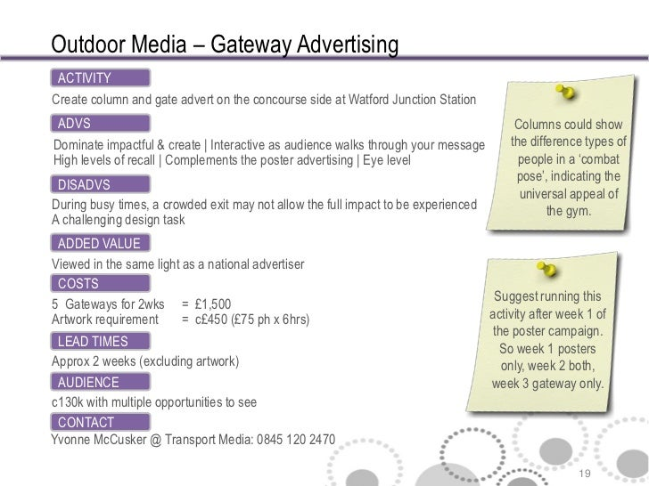 outdoor advertising proposal
