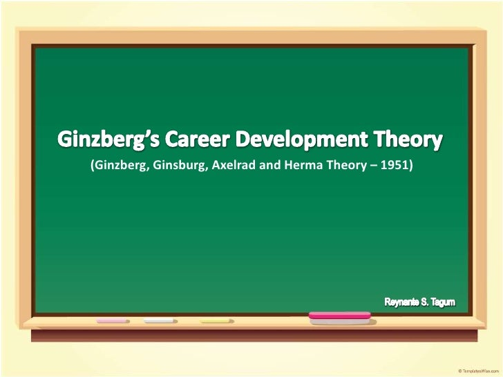 Ginzberg's Career Development Theory<br />(Ginzberg, Ginsburg, Axelrad and Herma Theory – 1951)<br />Reynante S. Tagum<br />