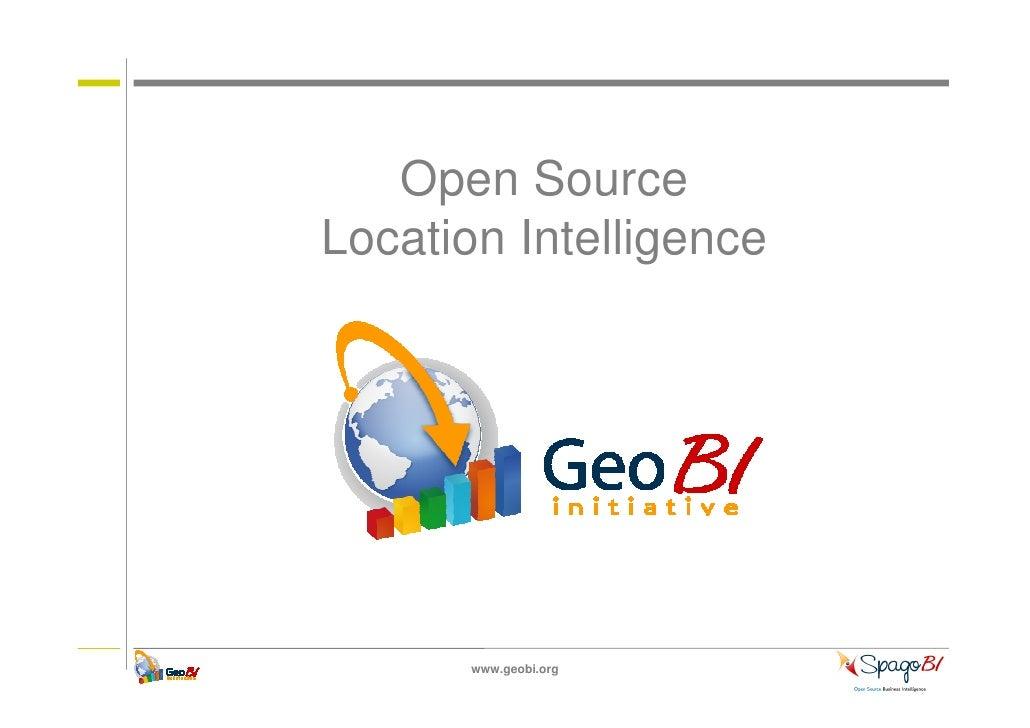 Open SourceLocation Intelligence       www.geobi.org