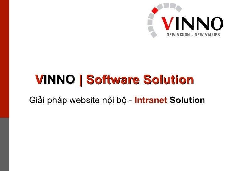 V INNO  | Software Solution Giải pháp website nội bộ -  Intranet  Solution