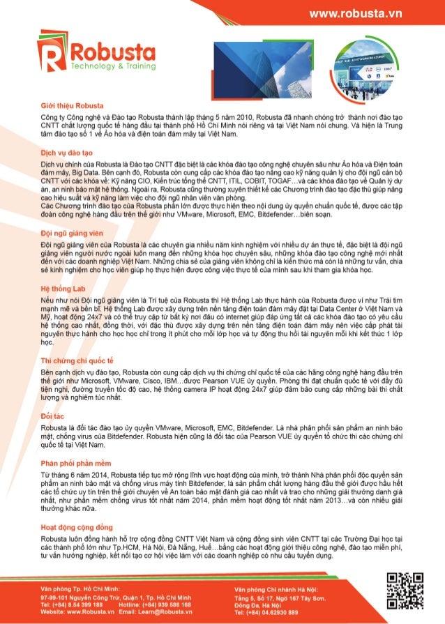 Giới thiệu Robusta và các khóa đào tạo tiêu biểu