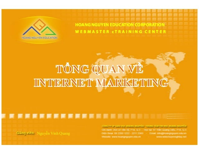 HOANG NGUYEN EDUCATION CORPORATION                    WEBMASTER cTRAINING CENTERNguyễn Vinh Quang
