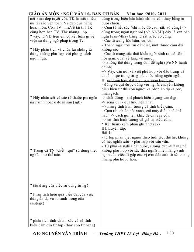 Giáo án ngữ văn lớp 10 trọn bộtruonghocso.com