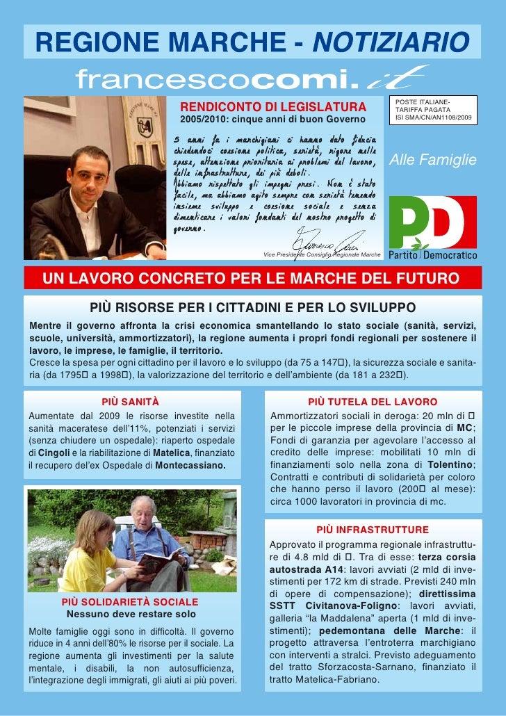 RENDICONTO DI LEGISLATURA                                                                                                 ...