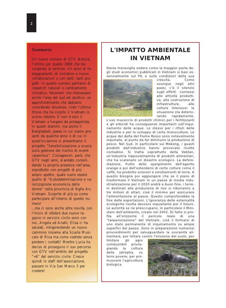 2     Sommario                                   L'IMPATTO AMBIENTALE Un nuovo numero di GTV Notizie,                  IN ...
