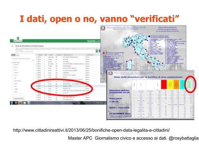 Master APC Giornalismo civico e accesso ai dati. @rosybattaglia Anche i monitoraggi ambientali fatti dai cittadini