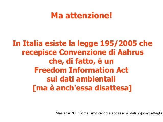 Master APC Giornalismo civico e accesso ai dati. @rosybattaglia Stop Biocidio, 100 mila cittadini Napoli, 16 novembre 2013