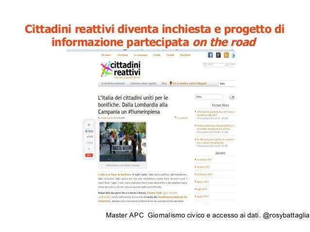 Master APC Giornalismo civico e accesso ai dati. @rosybattaglia Ombre sulla bonifica di Pioltello Ex Sisas https://www.you...