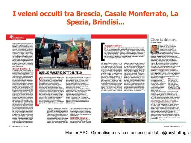 Master APC Giornalismo civico e accesso ai dati. @rosybattaglia Su nòva Il Sole 24 ore luglio 2014: L'apertura dei dati pu...