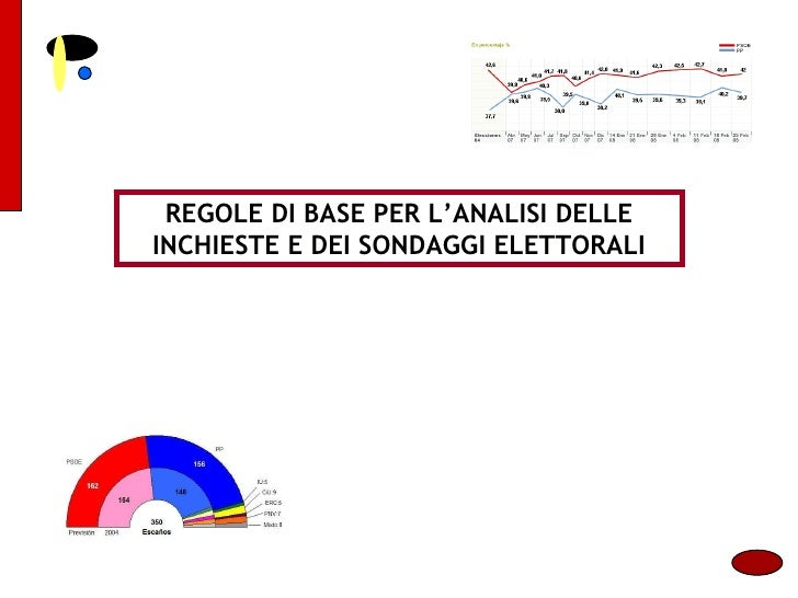 REGOLE DI BASE PER L'ANALISI DELLE INCHIESTE E DEI SONDAGGI ELETTORALI
