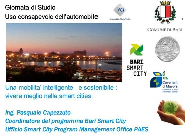 Giornata di Studio Uso consapevole dell'automobile  PROGRAM MANAGEMENT OFFICE S.E.A.P.  Una mobilita' intelligente e soste...
