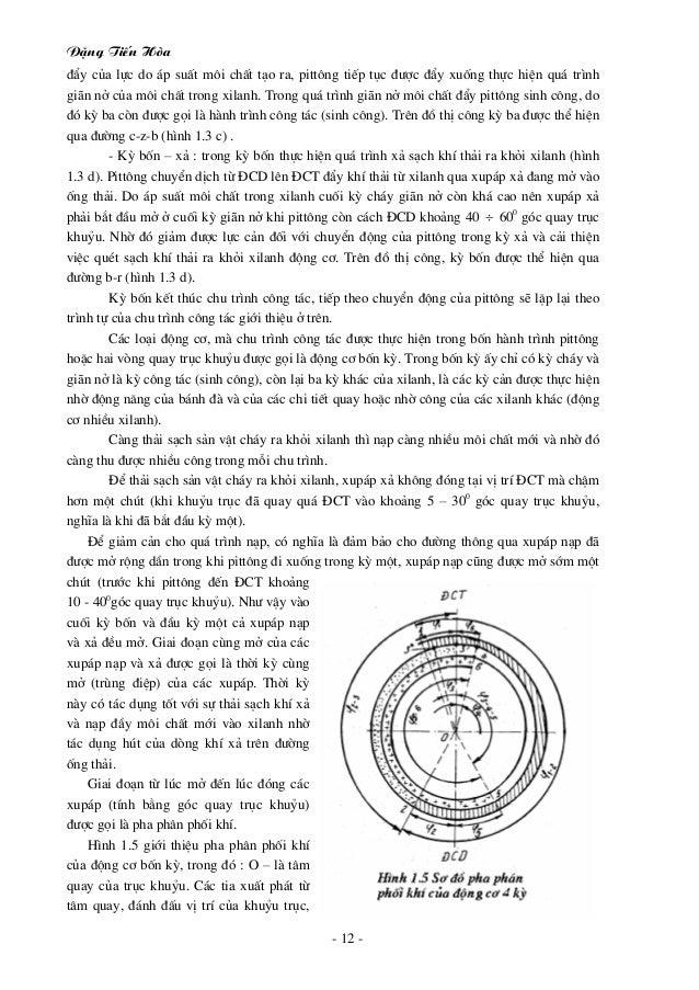 §Æng TiÕn Hßa - 12 - ®Èy cña lùc do ¸p suÊt m«i chÊt t¹o ra, pitt«ng tiÕp tôc ®−îc ®Èy xuèng thùc hiÖn qu¸ tr×nh gi·n në c...