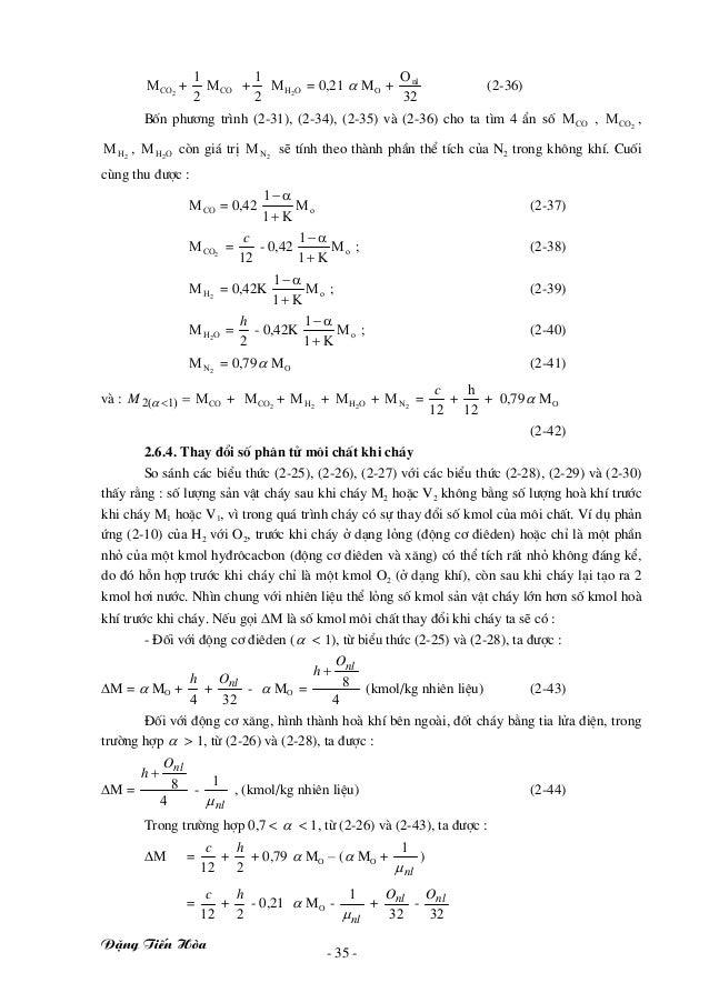 §Æng TiÕn Hßa - 35 - 2COM + 2 1 COM + 2 1 OH2 M = 0,21 α MO + 32 Onl (2-36) Bèn ph−¬ng tr×nh (2-31), (2-34), (2-35) vµ (2-...