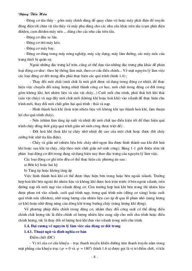 §Æng TiÕn Hßa - 8 - - §éng c¬ tÇu thñy – gåm m¸y chÝnh dïng ®Ó quay ch©n vÞt hoÆc m¸y ph¸t ®iÖn ®Ó truyÒn ®éng ®iÖn tíi ch...