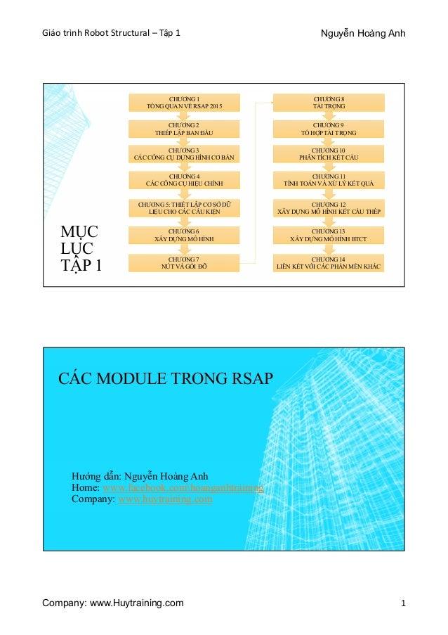 Giáo trình Robot Structural - Tập 1 Slide 2