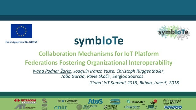 © 2018 – The symbIoTe Consortium Collaboration Mechanisms for IoT Platform Federations Fostering Organizational Interopera...