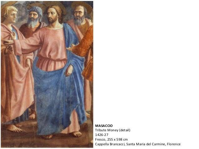 MASACCIO Tribute Money (detail) 1426-27 Fresco, 255 x 598 cm Cappella Brancacci, Santa Maria del Carmine, Florence