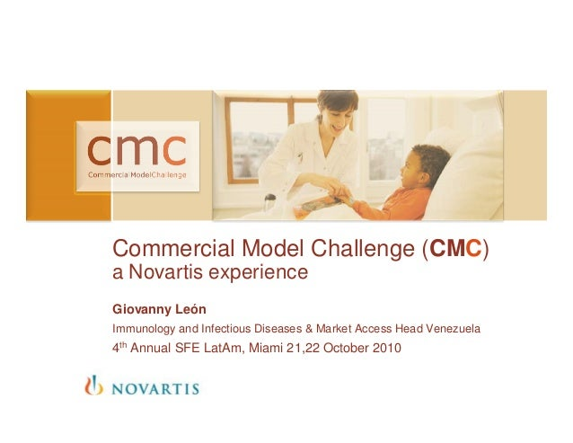 Commercial Model Challenge (CMC) a Novartis experience Giovanny León Immunology and Infectious Diseases & Market Access He...