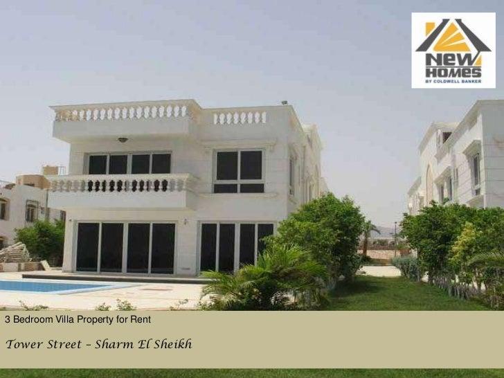 3 Bedroom Villa Property for Rent<br />Tower Street – Sharm El Sheikh<br />