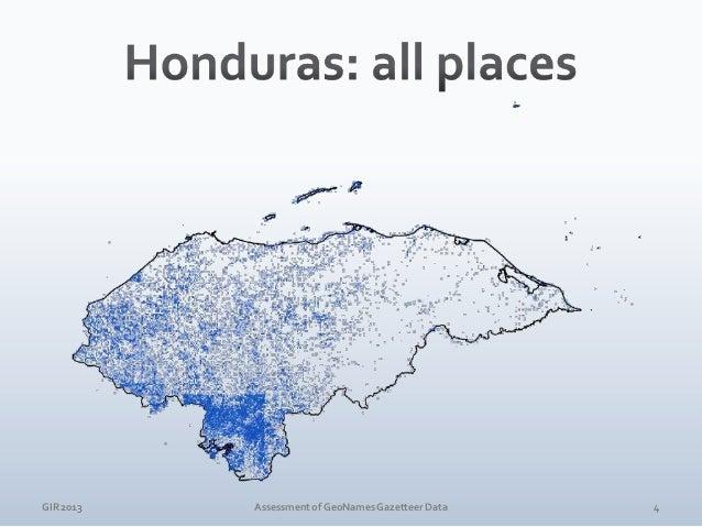 GIR 2013  Assessment of GeoNames Gazetteer Data  5