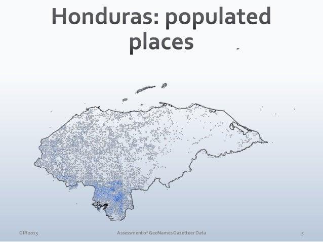 GIR 2013  Assessment of GeoNames Gazetteer Data  6