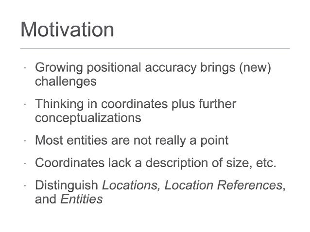 Granularity as a Qualitative Concept for Geographic Information Retrieval (GIR) Slide 2