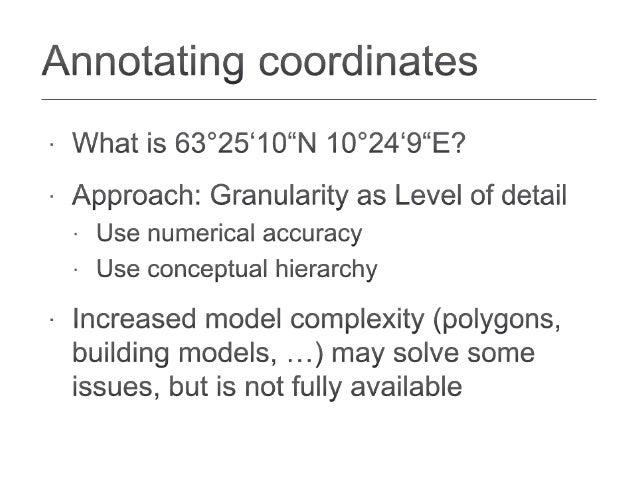 Granularity as a Qualitative Concept for Geographic Information Retrieval (GIR) Slide 3