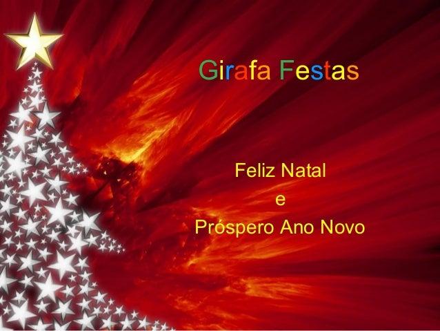 Girafa Festas    Feliz Natal         ePróspero Ano Novo