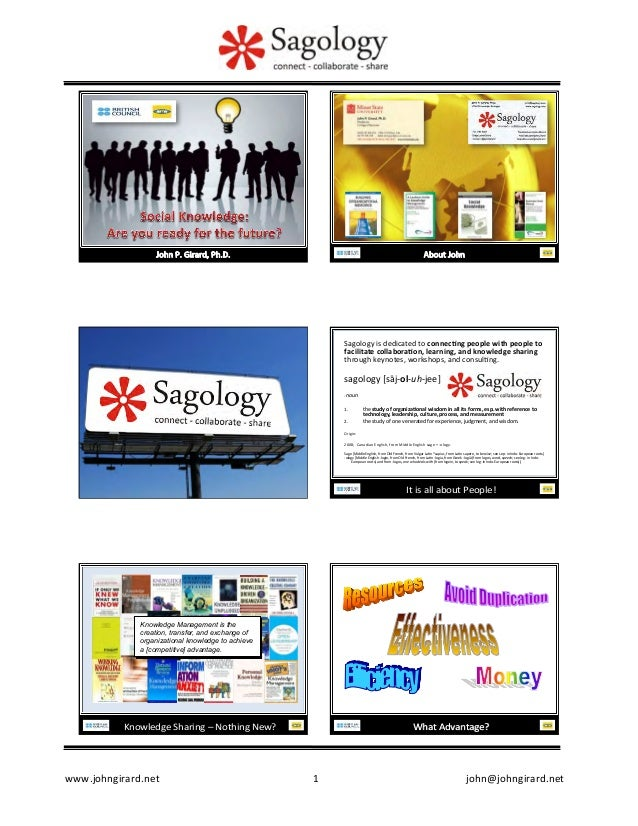 Sagology	   is	   dedicated	   to	   connec�ng	   people	   with	   people	   to	    facilitate	   collabora�on,	   learni...