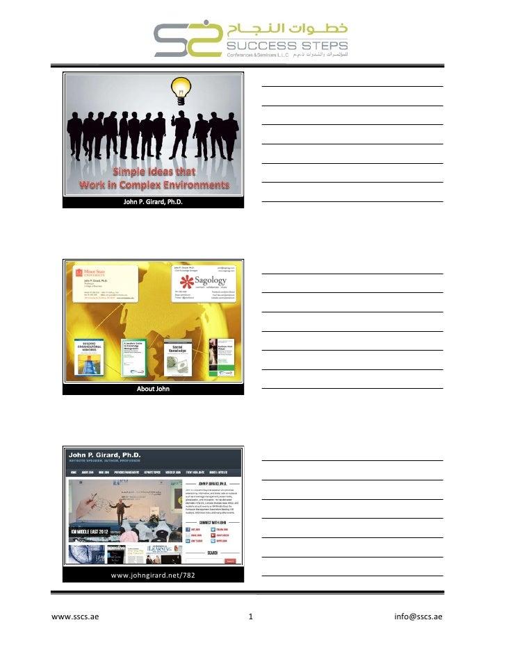 www.johngirard.net/782 www.sscs.ae                                           1      ...