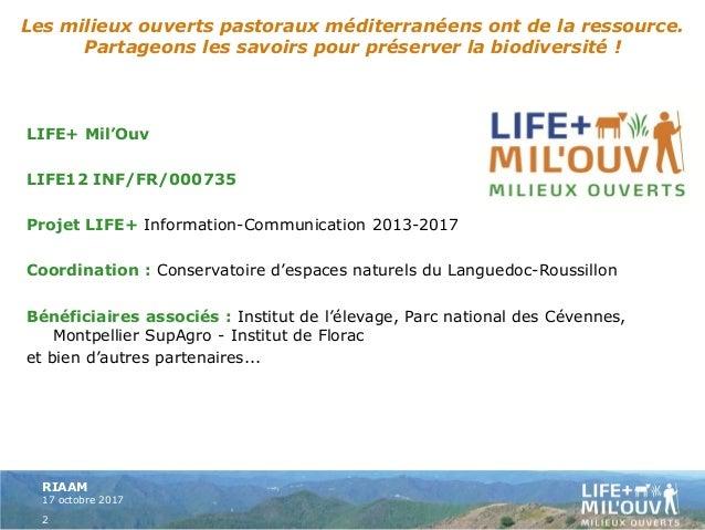Bilan des actions réalisées dans le cadre du projet Life+ Mil'Ouv - GIRARDIN Slide 2