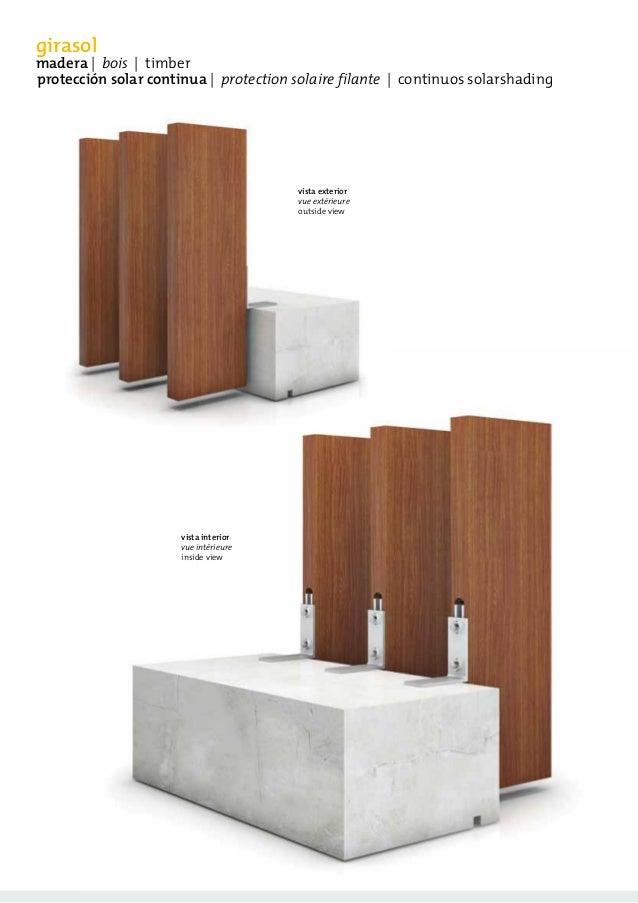 catalogue de brise soleil girasol avec lames filantes. Black Bedroom Furniture Sets. Home Design Ideas