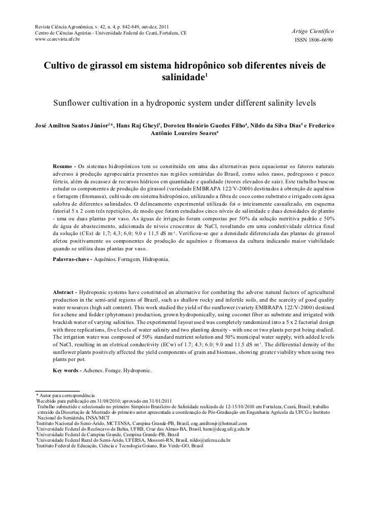 Revista Ciência Agronômica, v. 42, n. 4, p. 842-849, out-dez, 2011Centro de Ciências Agrárias - Universidade Federal do Ce...