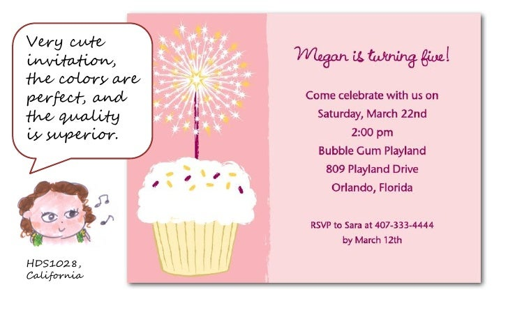 Cupcake birthday party invites for girls filmwisefo