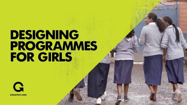 Designingprogrammesfor girls
