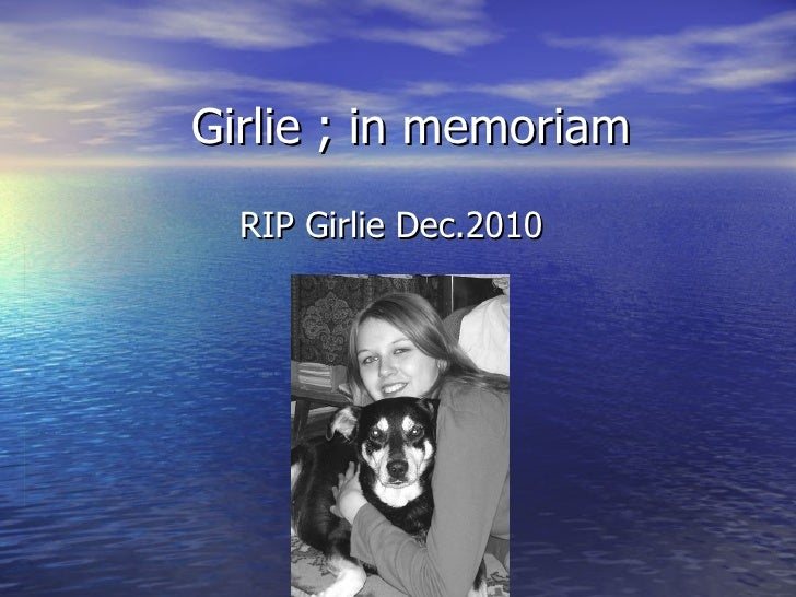 Girlie ; in memoriam RIP Girlie Dec.2010