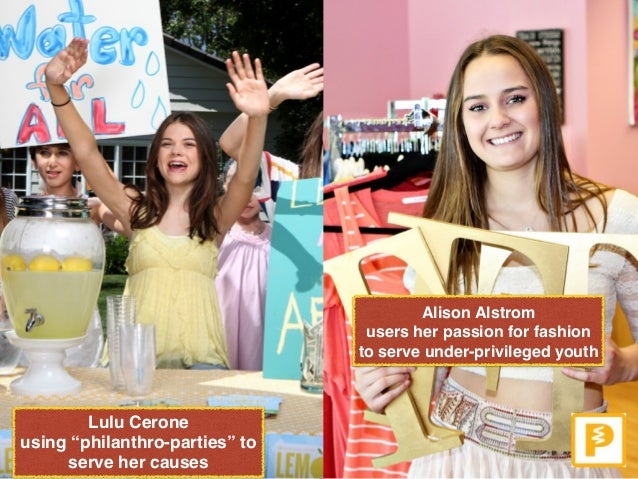 """Alison Alstrom  users her passion for fashion to serve under-privileged youth Lulu Cerone  using """"philanthro-parties"""" to..."""